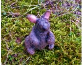 The West Woods Brown Rabbit Polymer Clay Sculpture