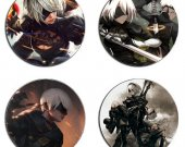 NieR Automata Set Of 4 Wood Drink Coasters
