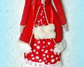 Gift for her Tilda doll Boudoir Collectible Fashion Fabric Room decor Cute Cloth Shelf Cotton Puppet Nursery decor Unique Textile handmade