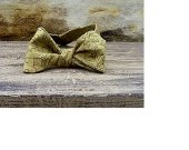Bow Tie - Olive Green Leaf Print Free Style