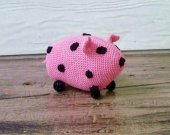 Piggy - Crocheted Stuffed Animal/Toy/Amigurumi