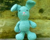 Blue Bunny Stuffed Animal/DollCrochet - Crochet/Amigurumi