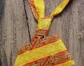 Necktie - Yellow, Orange and Gold Tikki Print
