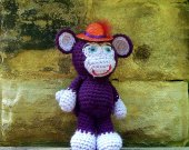 Purple Stuffed Monkey Animal/DollCrochet Amigurumi