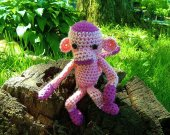 Pink Monkey - Crochet Amigurumi Stuffed Animal/Doll