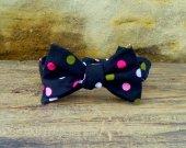 Bow Tie - Adjustable Black with Polka Dots