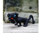 Black Scary Cat - Crochet Amigurumi Stuffed Animal/Doll