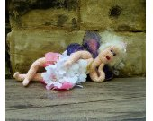 Fairy Art Doll/Amigurumi Doll - Crochet Hearts and Petals