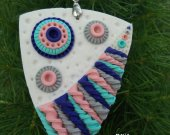 """Necklace pendant made of polymer clay""""Spiral of the universe"""" . handmade."""
