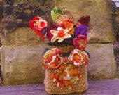 Fall Floral Arrangement - Crochet