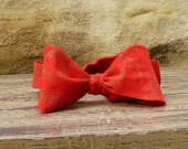 Bow Tie - Red with Gold Leaf Print Free Style