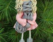 Brooch  handmade from polymer clay.