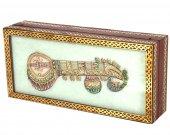 Marble jewellery box with sitar kundan musical instrument HNM-HMRH-100029