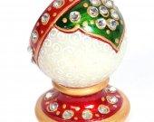 Marble minakari paper weight clock HNM-HMRH-100014