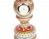 Pillar clock made of minakari marble HNM-HMRH-100013