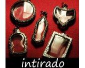 Terrarium Necklace Kit, Marimo Blank, Wholesale Pendant Case Blanks, Reliquary, Antiqued, Engraved Pendant, Blank, Amulet Locket Cases, 5pcs