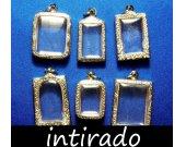 Terrarium Jewelry, Locket Blank, Terrarium Kit, Terrarium Necklace, Hanging Terrarium, Shadow Box, Silver Tone, Craft Supplies, 6pcs