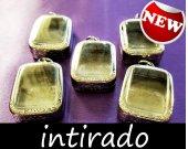 Terrarium Jewelry, Locket Blank, Terrarium Kit, Terrarium Necklace, Hanging Terrarium, Shadow Box, Silver Tone, Craft Supplies, 5pcs
