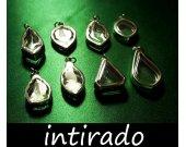 Terrarium Kit, Craft Supplies, Memento, Reliquary, Shadow Box Pendant, Natural Locket, Terrarium Necklace, Leaf, Display Cases, 8pcs