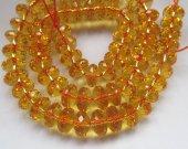 "Full strand 16"" Handmade  Citrine Quartz Rondelle Wheel PinWheel Heishi Faceted Yellow Rock Crystal Jewelry Loose Beads 4-10mm"