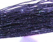 "full strand 16""  Black Spinel Micro Cut Stone Round ball faceted Jet Loose beads 1-4mm"