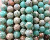 2strands 6-12mm jasper stone  blue  jasper round ball polished  jasper jewelry for Make Necklace