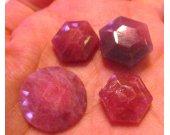 Natural Ruby gemstone Assorted  Cabochon Round Hexagon Oval Freeform Teardrop GEM 10-20mm 2pcs