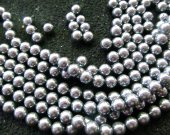 wholesale 2strands 3-12mm Pearl Jewelry grey Silver white  round ball Pearl beads jewelry for Make Necklace