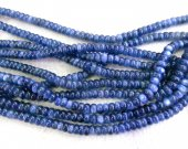 4-10mm full strand KYANITE Gemstone. Semi Precious Gemstone Bead. Smooth Blue Kyanite Gemstone Rondelle Abacs Beads