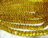 High Quality  Citrine Quartz Wheel PinWheel Heishi Faceted Yellow Rock Crystal Jewelry Loose Beads 4-10mm full strand
