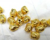 50pcs 8-12mm 14K real solid gold seamless Skeleton beads Skull Solid Brass Bead Brass Spacer
