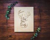 I Love You Deerly / Wooden Deer Decor / Cute Animal Wall Decor / Baby Nursery Decor / Baby Decor / Wood Decor /  Deer Wall Art for Toddler