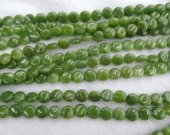 High Quality Natural Chrysoprase Round Disc Beads- Chrysoprase Beads Olive  gemstone 6-10mm full strand