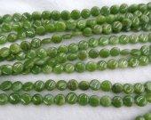 High Quality Natural Chrysoprase Round Disc Beads- Chrysoprase Beads Olive  gemstone 6-10mm full strand