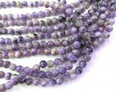 Wholesale  Charoite Gemstone , Charoite Bead Smooth Bead, Natural Stone, Semi Precious Bead, Blue Bead  6 8mm full strand