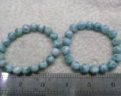 Wholesale  Natural Larimar Stone , Larimar Bead Smooth Bead, Natural Stone, Semi Precious Bead, Blue Bead Larimar Bracelet  6-12mm 16inch