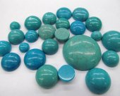 High Quality Turquoise Cabochon Round  Stacking Ring  Jewelry Designer Handmade Handcut Turquoise Stone 50pcs 4-20mm