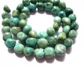 2strands 4-15mm African Turquoise Gemstone Green Brown Chips Nuggets FreeForm  Turquoise Beads