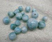 AA+ Natural Larimar Stone , Larimar Bead Smooth Bead, Natural Stone, Semi Precious Bead, Blue Bead Larimar Bracelet  6-20mm 2pcs