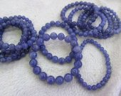 AA+Grade  8-16mm Tanzanite Beads, Genuine Tanzanite Gemstone Beads,  Blue Tanzanite Stone Beads Jewelry Bracelet