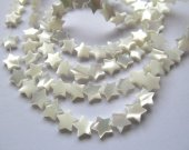 Wholesale 2strands 8-12mm Natural White MOP Star Pendants Brown White Mother of Pearl Carved Star Beads