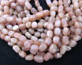 Genuine Golden Sustone moonstone Gems Gemstone Gradutated nugget Freeform polished  Loose  beads 8-20mm Full strand 16inch