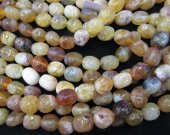 Nautral Yellow Opal Gems Gemstone Gradutated nugget Freeform faceted Loose  beads 8-20mm Full strand 16inch