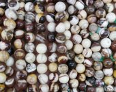 2strands 4-12mm Picasso Jasper Beads, Natural Stone Beads, Multi Color Beads Brown Jasper Beads  Round beads Jasper Jewelry