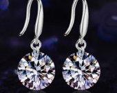 2 carats Zircon diamond  earrings