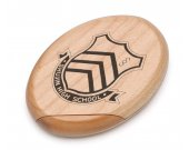 Persona 5 Shujin High School Wooden Pocket Mirror