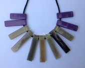 Geometric Statemant Buffalo HORN Necklace 19.6 inches length [TTC007]