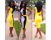 Bodycon Yellow Dress for Women  (S M L)