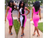 Bodycon Pink Dress for Women  (S M L)