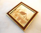 Handmade Wheat Straw Picture of a Cottage
